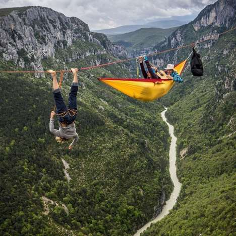 Suspended Hanging Hammocks - This 'Ticket to the Moon' Double Hammock Lets You Relax in the Air