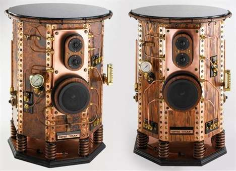 Luxurious Copper Speakers - The Bowers and Wilkins Empire Steam Speakers are Made of Copper