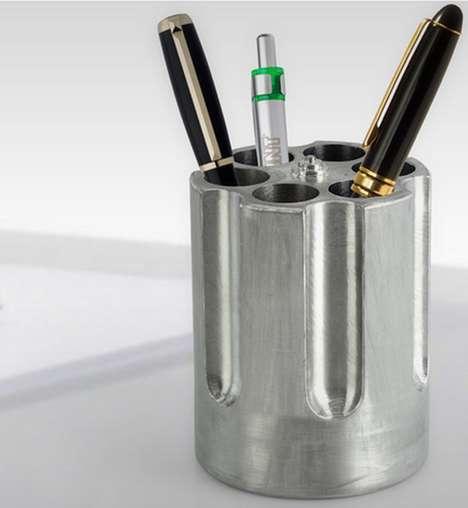 Gun Barrel Pen Holders