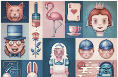 Fantastical Fairy Tale Interpretations - Alice in Wonderland Illustrations Promote a Good Cause