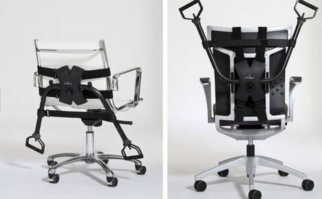 Workout Office Chairs - This Office Gym is the Perfect Way to Work While Working Out