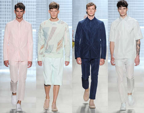 Minimalist Color-Blocked Menswear