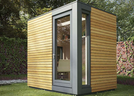 Outdoor Home Offices - The Micro Pod is Your Very Own Garden Office Studio