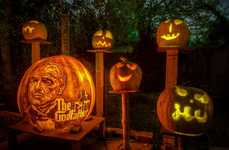 Pop Culture Pumpkin Carvings - These Intricate Pumpkin Carvings Feature Iconic Movie Characters