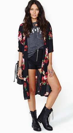 Floral Kimono-Inspired Cardigans