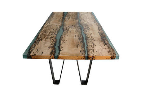 Deceptively Gapped Table Tops - The Chimenti Table by Alcarol is Inspired by Seafaring Adventures