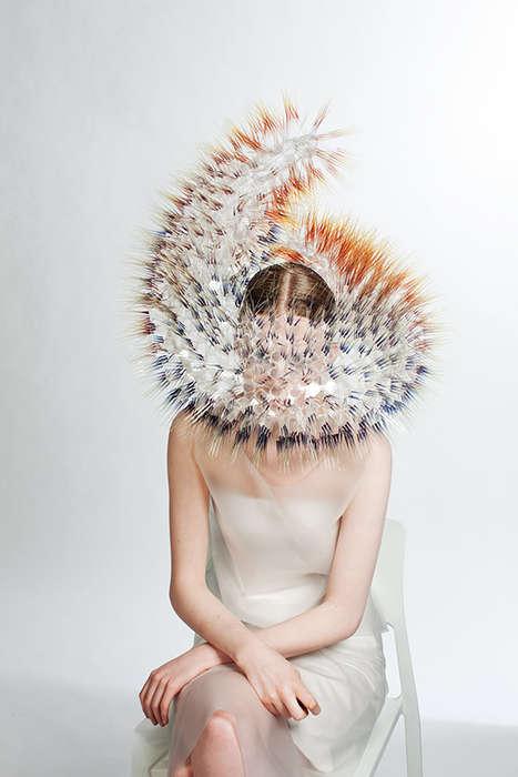Hedgehog-Inspired Headdresses