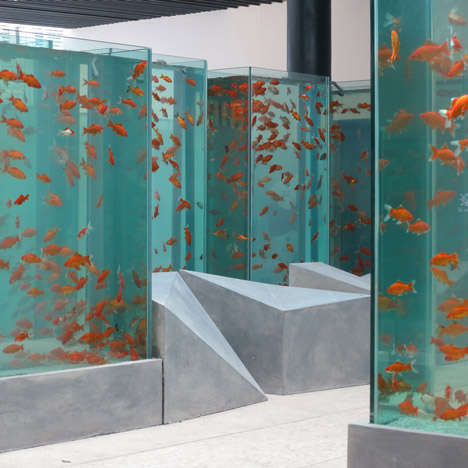 Skyscraper-Inspired Aquariums