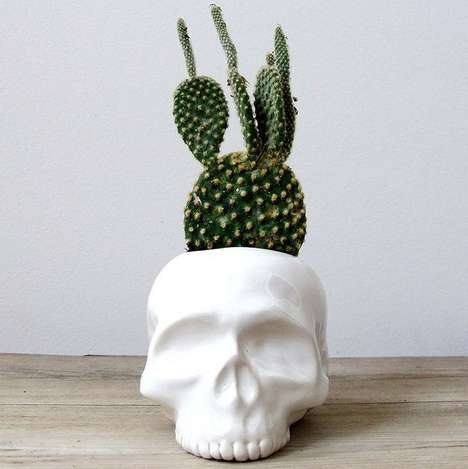 Skull Planters - This Skeletal Vase is Made for Macabre and Modern Homes