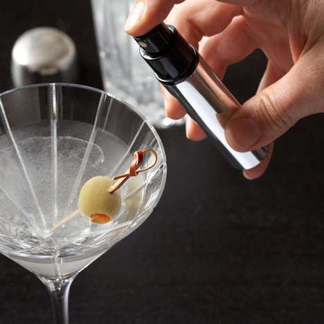 Martini Spray Bottles - The Martini Atomizer Spray Coats the Edges of Your Cocktail Glass