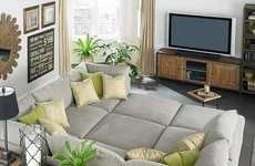 Gigantic Sectional Sofas - The Beckham Pit Sectional Sofa Lets You Create a Super Couch