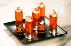 Festive Shot Glass Desserts - These Halloween Shooters are Filled with Yummy Orange Treats