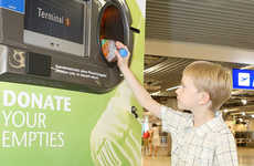 Charitable Airport Regulations - The Frankfurt Airport Recycling Bank Makes Giving Up Bottles Easier