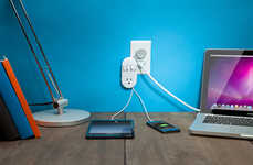 Sidestepping Outlet Extensions - The Contort Power Accommodates Three Chargers and Another Beside It