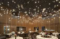 Incandescent Starry-Night Restaurants - 'The Feast' Restaurant in Shanghai Emulates the