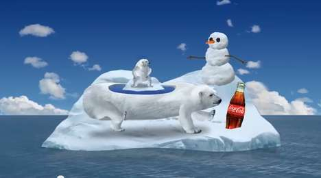 Bewildering Animal Animations - The 'Polar Party' is an Interactive Game and Commercial