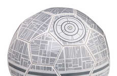 Space Station Soccer Balls - The Death Star Soccer Ball Brings the Force to the Field