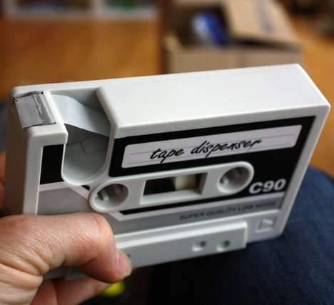 Retro Cassette Tape Dispensers - These Old School Office Supplies Spruce Up Your Desk