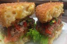 Fried Macaroni Burger Buns - The Mac Attack Burger Buns are Made Out of Fried Macaroni and Cheese