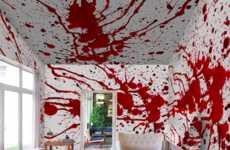 Blood-Splattered Wall Murals