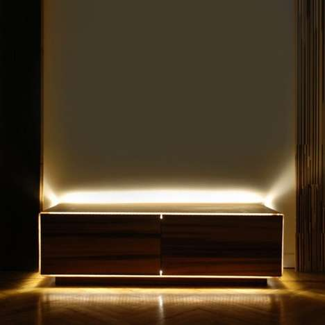 Illuminated Bedroom Storage - The C-Light Storage Cabinet is LED-Equipped
