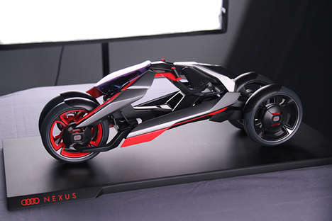 Urban Car Bike Hybrids - The Audi Nexus Blends a Car's Stability with a Bike's Pure Urba