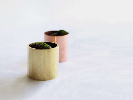 Cylindrical Metal Vases