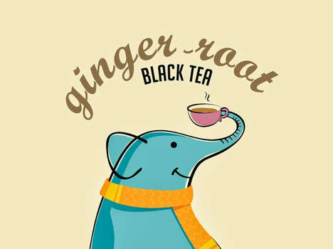 Endearing Elephantine Branding - Tea Trunk Packaging Wins You Over with Its Utterly Adorable Mascot