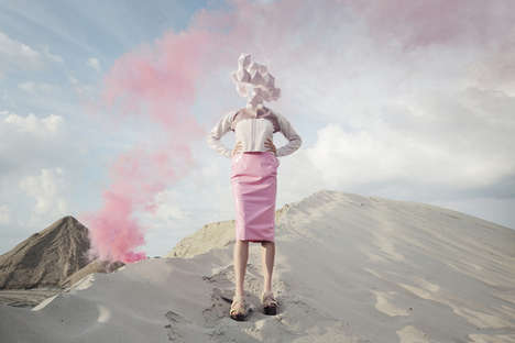 Geometric Space Headwear Editorials - 'Andromeda here I come' Portrays Smoky Desert Fashions