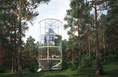 Glass-Encased Tree Houses