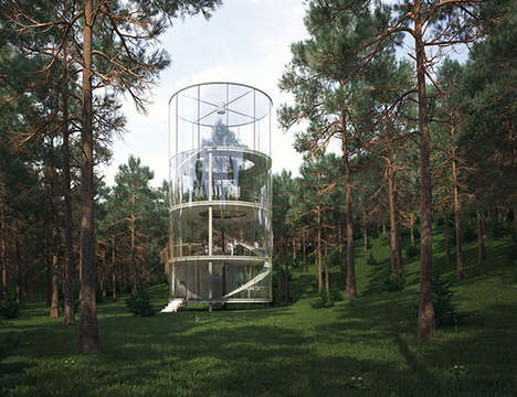 The Tree in the House is Located in the Forests of Almaty, Kazakhstan
