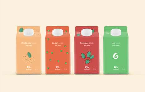 Cutely Doodled Branding - Soup Illustrations Packaging Entices with its Scrumptious Simplicity