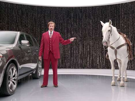 Hilarious Anchorman Auto Ads - The New Ron Burgundy Dodge Commercials Promote the SUV's Odd Features