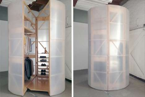 Cylindrical Clothing Storage Spaces