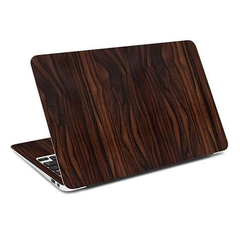 Faux Wood Laptop Skins