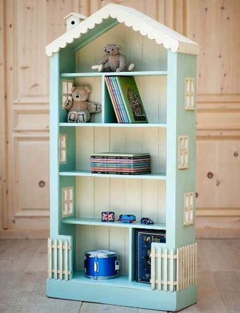 Dollhouse-Inspired Bookcases