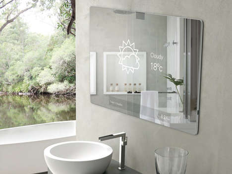 Interactive Bathroom Entertainment Systems - The Mirror 2.0 Tailors Our Private Bathroom Experience
