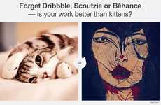 Comparative Cat Websites - Better Than Kittens Pits Adorable Felines Against an Artist's Work