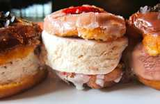 Decadent Dessert Burgers - Umami Burger's Donut Ice Cream Sandwiches is Desgined to Destroy Diets
