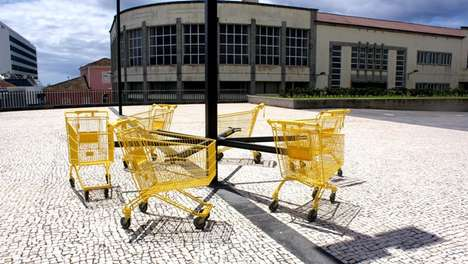 Critical Consumerism Installations - The 'Merry-Go-Round' is a Criticism of Consumerist
