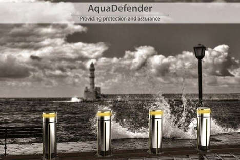 Flash Flood-Blocking Barriers - The AquaDefender Has Extendable Barriers to Block Floods