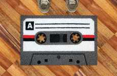 Cassette Carpet Decor - The A Tape Doormat from Retailer Meninos is 80s Inspired