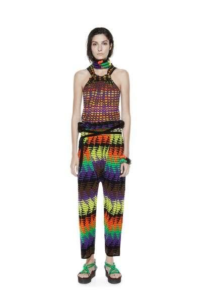 Kaleidoscopic Safari-Printed Fashions