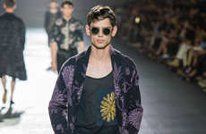 Relaxed Bohemian Menswear - This Dries Van Noten Menswear Collection Boasts Floral Print Fashion