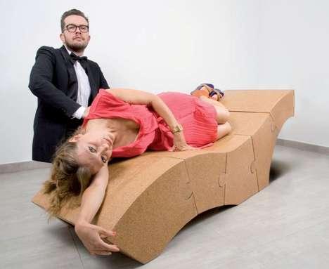 Jigsaw Bark Seating