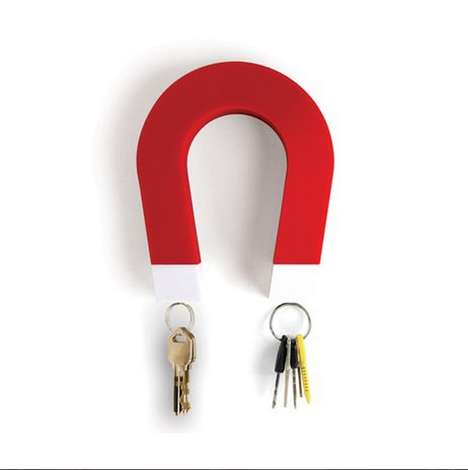 Magnetic Horseshoe Key Holders - The Magnet Key Holder Makes Sure You Never Lose Your Keys Again