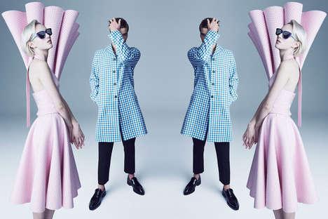 Surreal Mirror-Image Editorials