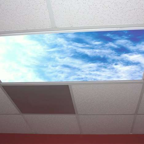 Sky-Imitating Ceiling Light Covers - The Sky Light Covers Provide a Reprieve on the Ceiling