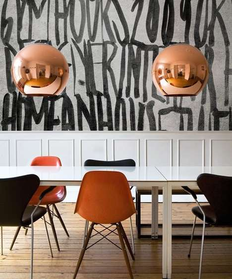 Warm Metallic Suspension Lamps