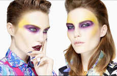 Electric 80s Cosmetic Captures - The Kaleidoscope Volt Magazine Image Series is Highlighter-Hued